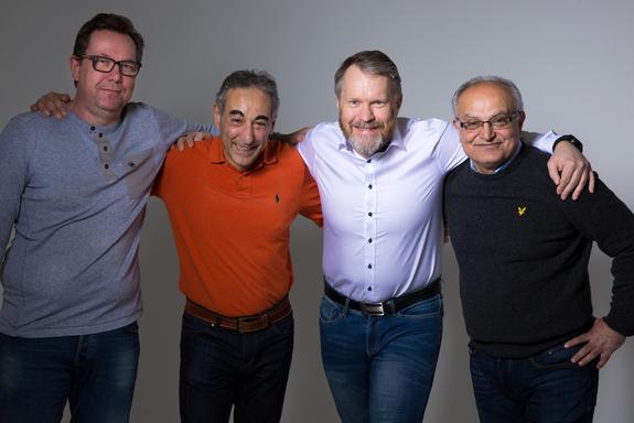 Foto: Otto Motzke - F.v: Reidar, Gabriel, Bjørge og Siamak. Linus var dessverre ikke til stede da bildet ble tatt.