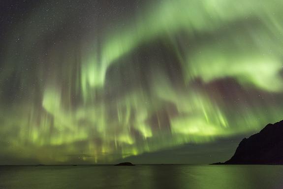 Arnfinn Johnsen - Nordlys over Bergsfjorden