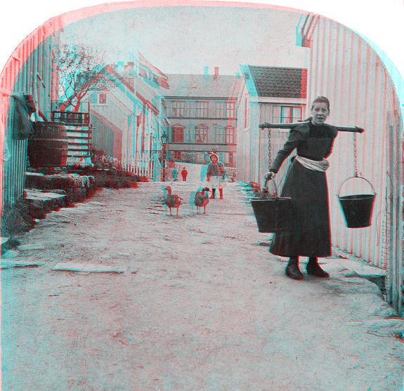 Ole O. Ranheimsæter - Møregata på Nordlandet i Kristiansund 1895