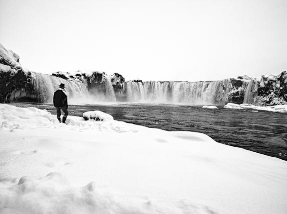 Kristinn gudlaugsson - Godafoss i februar