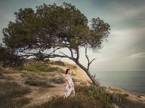 Grandefoto - Portrett i solnedgang