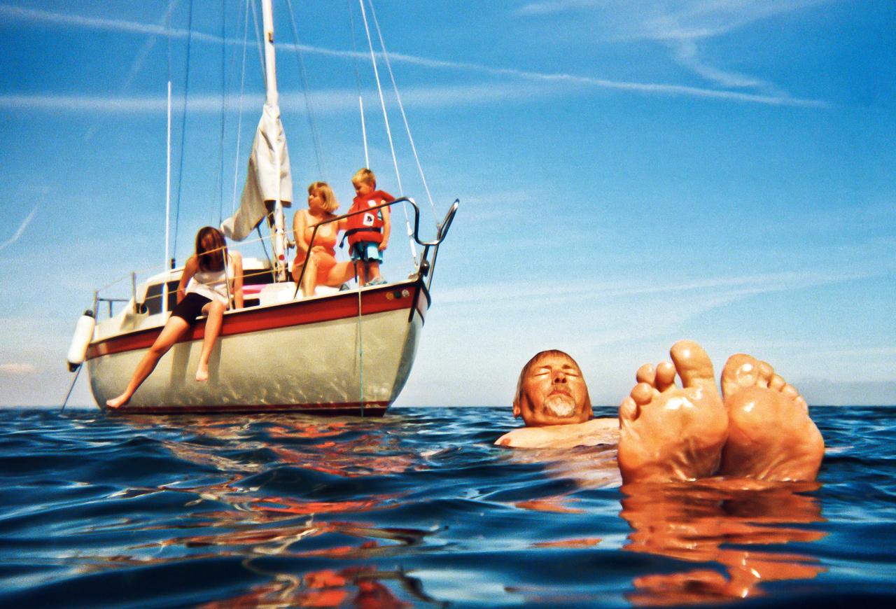 Familie på havet