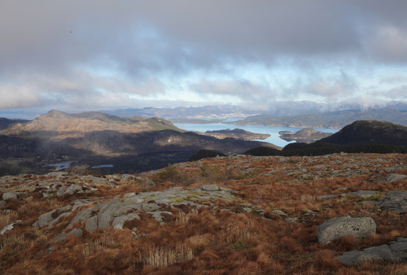 - Høgsfjorden sett fra et av fjellene i Sandnes