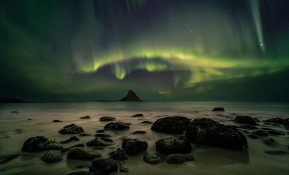 Asle Baraa - Aurora on the Rocks